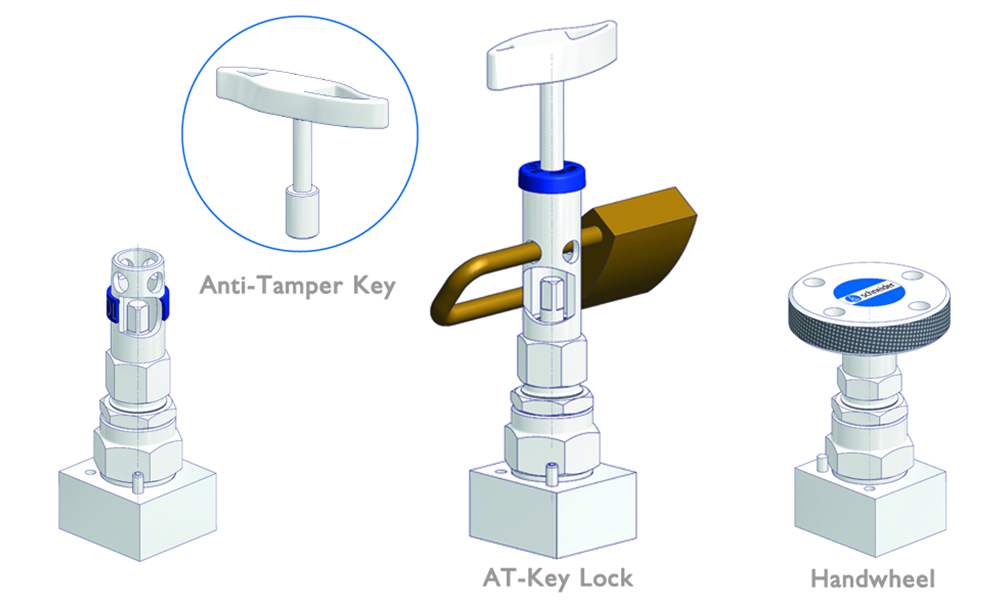 Tamper-proof solutions provide protection against an unauthorized access or accidental operation of the valve.