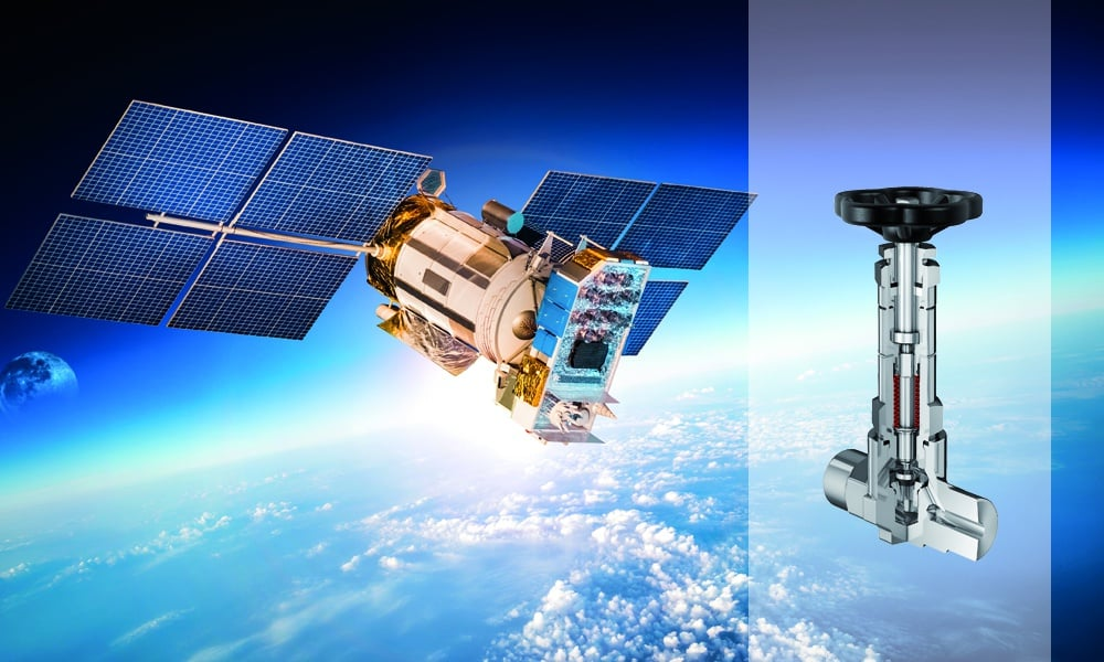 Bellow-sealed needle valves for national space agency.
