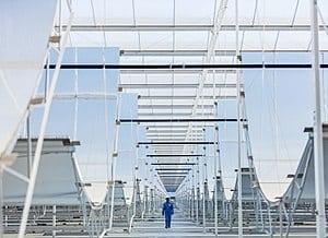 Miraah solar mirrors of Amal oilfield in Oman.